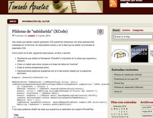 "Plantilla antigua WordPress ""Tomando Apuntes"""